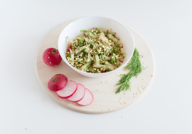 Green healthy lunch meal during Leaky Gut Diet - Custom meal plan