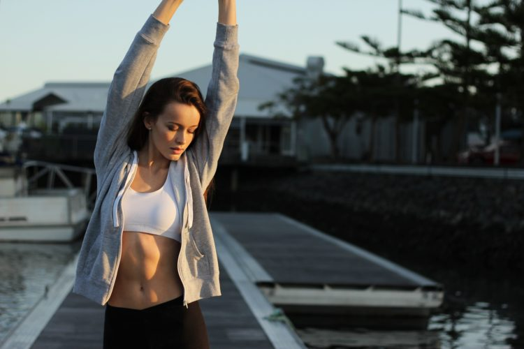 Woman getting ready to exercise - Meal Plan