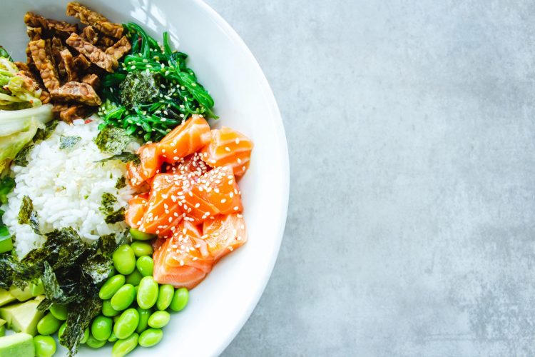 healthy salmon lunch for women's hormone balancing diet