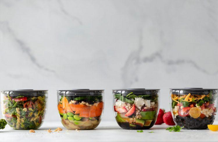 Meal prepping for Lighten Up custom meal diet plan