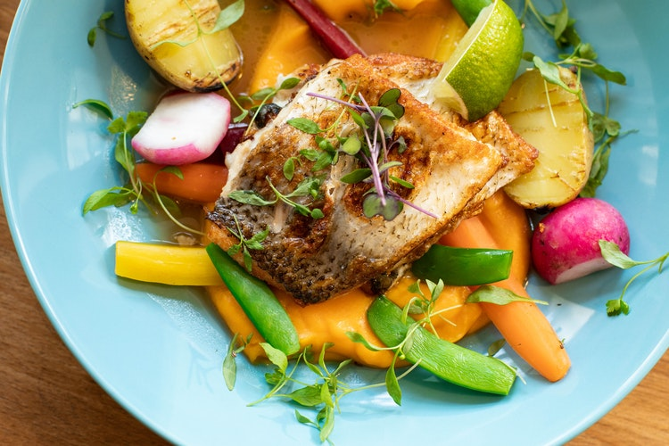 Healthy and colorful meal for intermittent fasting diet meal plan